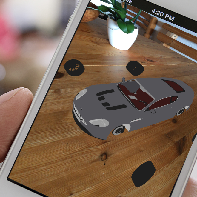 Augmented Reality App with a 3D Model of an Aston Martin